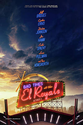 Mixed Media - Bad Times At The El Royale  by Movie Poster Prints
