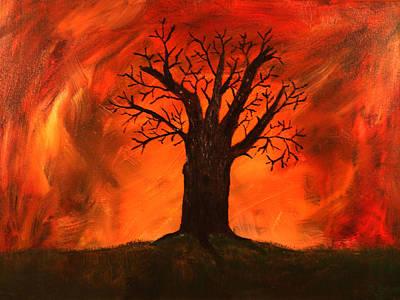 Eerie Painting - Bad Tree by David Stasiak