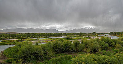 Photograph - Bad Weather In The Valley Of The Snake River by Alex Galkin