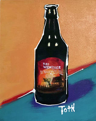 Growler Painting - Bad Weather by Laura Toth