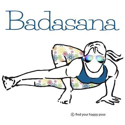 Badasana Art Print