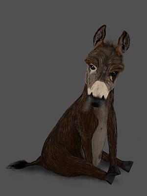 Badass Painting - Badass Donkey by Dan Pearce