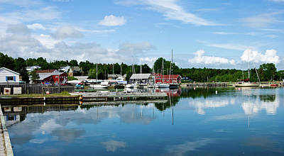 Digital Art - Baddeck Harbor Panorama by Gene Norris