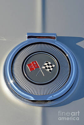 Chevrolet Painting - Badge Of A 1966 Chevrolet Corvette Sting Ray 427 Turbo-jet by George Atsametakis