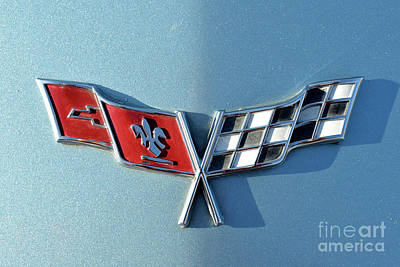 Close-up Photograph - Badge Of A 1977 Chevrolet Corvette by George Atsametakis