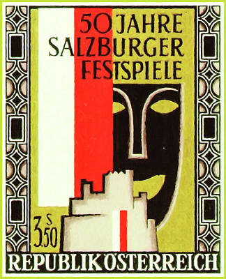 Painting - Badge Of The Salzburg Festival by Lanjee Chee