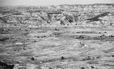Photograph - Badlands #2 Bw by Frank Romeo