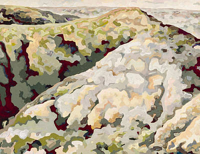Abstract Realist Landscape Painting - Badlands #6 by Dale Beckman