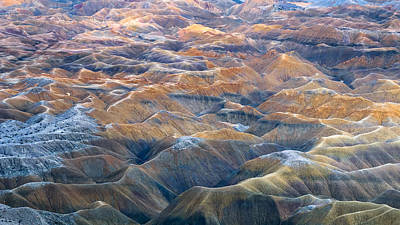 Anza Borrego Desert Photograph - Badlands And Mud Hills by Joseph Smith