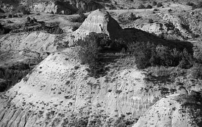 Photograph - Badlands Bw by Frank Romeo