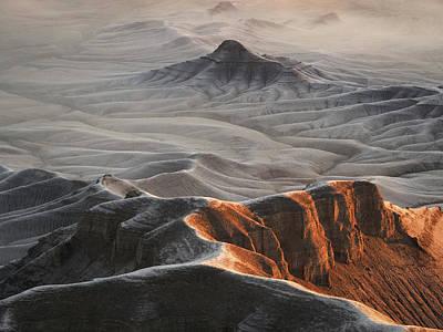 Photograph - Badlands Fog by Emily Dickey