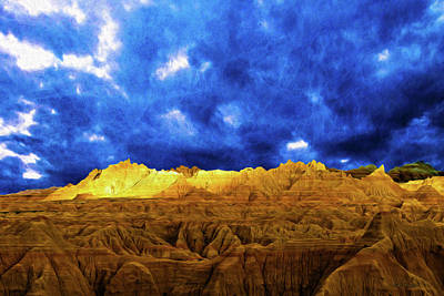 Photograph - Badland's Gold by Mike Braun