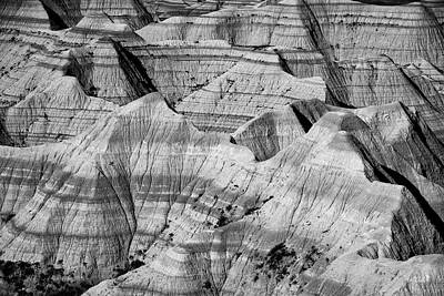 Photograph - Badlands In Black And White by Andy Crawford