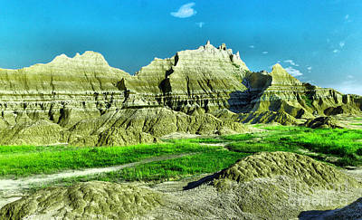 Photograph - Badlands In South Dakota by Jeff Swan