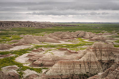Photograph - Badlands by John Gilbert