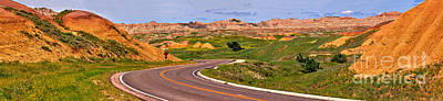 Photograph - Badlands Loop Road Panorama by Adam Jewell