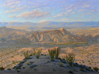 Southwest Painting - Badlands by Mark Junge