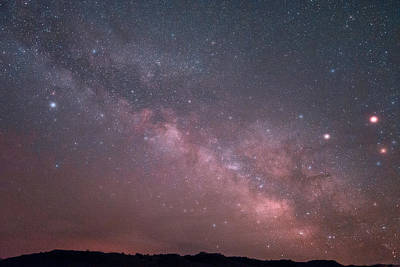 Photograph - Badlands Milky Way by Dakota Light Photography By Dakota