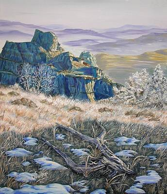 Badlands Morning Original by Jim Olheiser