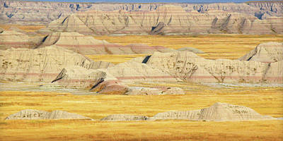 Art Print featuring the photograph Badlands Mystique by Al Swasey