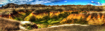 Photograph - Badlands National Park Panorama No.1 by Roger Passman