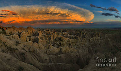 Photograph - Badlands National Park Sunset by Adam Jewell