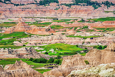 Photograph - Badlands National Park Vista by Andy Crawford