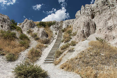 Photograph - Badlands Notch Trail Ladder by Jason Kolenda