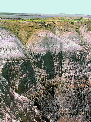 Photograph - Badlands Of The Arizona Desert by Merton Allen