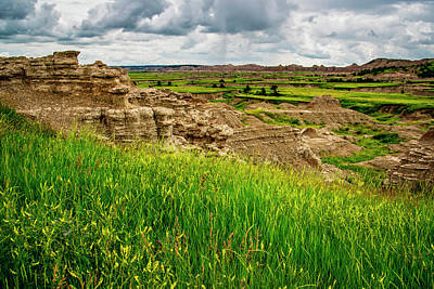 Photograph - Badlands Outcropping by Andy Crawford