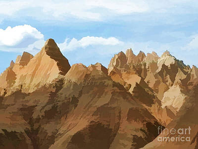 Badlands Peaks Art Print by Jennifer Stackpole