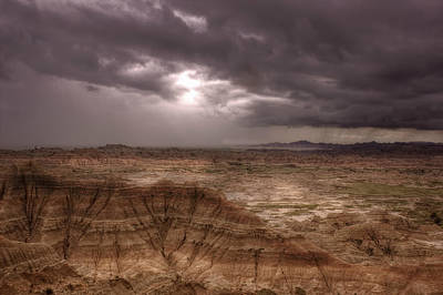 Photograph - Badlands Rain by Michele Richter