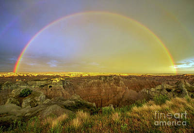 Badlands Rainbow Promise Art Print