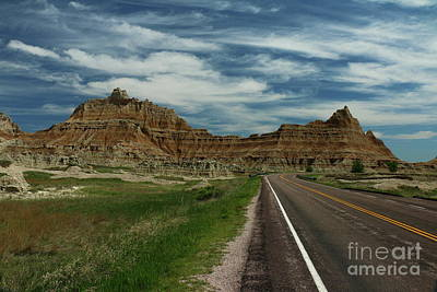 Photograph - Badlands Road - South Dakota by Christiane Schulze Art And Photography