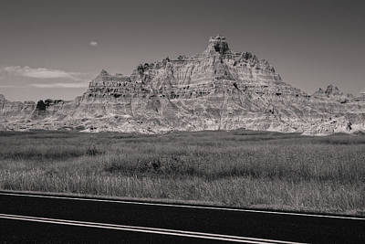 Photograph - Badlands Sepia  by Heidi Hermes