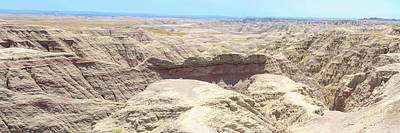 Digital Art - Badlands Shot by Dave Luebbert
