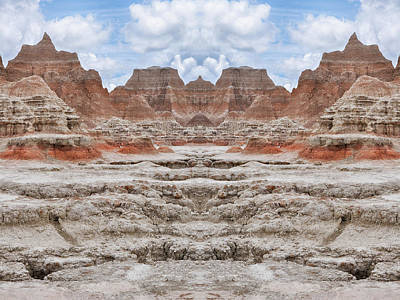 Photograph - Badlands South Dakota Mirror by Kyle Hanson