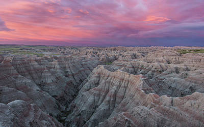Photograph - Badlands Sunrise by Eilish Palmer