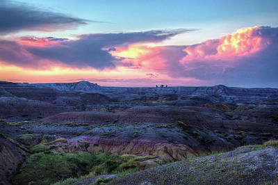 Badlands Sunrise Art Print by Fiskr Larsen