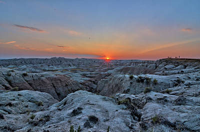 Photograph - Badlands Sunset 2 by Bonfire Photography