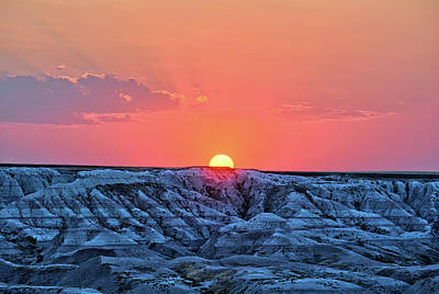 Photograph - Badlands Sunset by Bonfire Photography