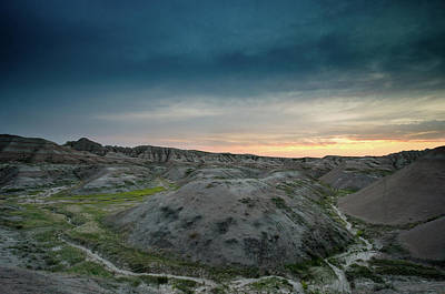 Crystal Wightman Rights Managed Images - Badlands Sunset Royalty-Free Image by Crystal Wightman
