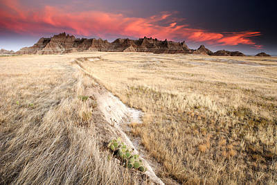 Badlands Sunset Art Print by Eric Foltz