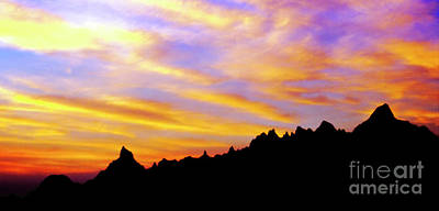 Photograph - Badlands Sunset by Scott Kemper