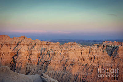 Badlands Sunset View To The East Art Print