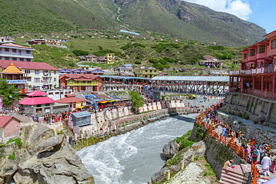 Photograph - Badrinath Town by Nila Newsom