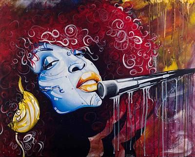 Hip Hop Soul Painting - Badu by Aramis Hamer