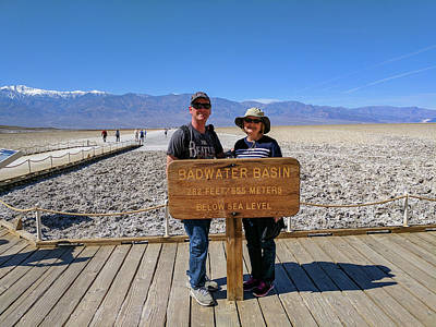 Photograph - Badwater Basin Almost Selfie by Michael Bessler