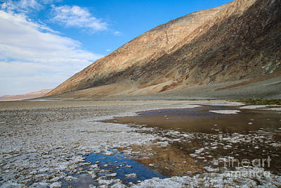 Photograph - Badwater Basin Reflection by Suzanne Luft
