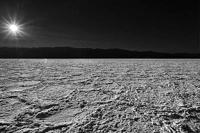 Dry Lake Photograph - Badwater by Peter Tellone